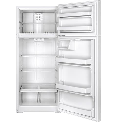 GE GTE18CTHWW 17.5 Cu. Ft. Top-Freezer Refrigerator - White - Refrigerator - GE - Topchoice Electronics