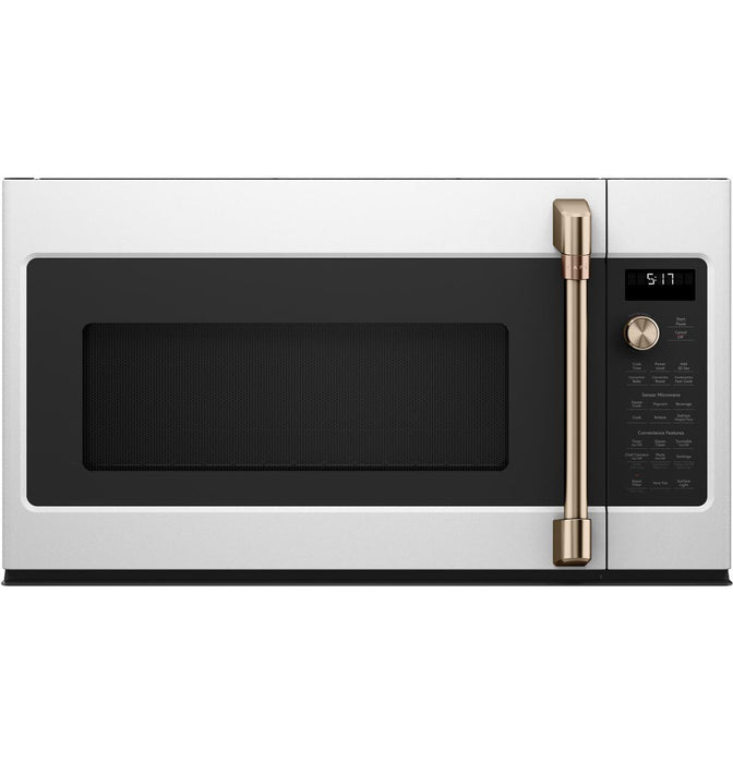 GE Cafe CVM517P4MW2 1.7 Cu. Ft. Convection Over-the-Range Microwave Oven in Matte White