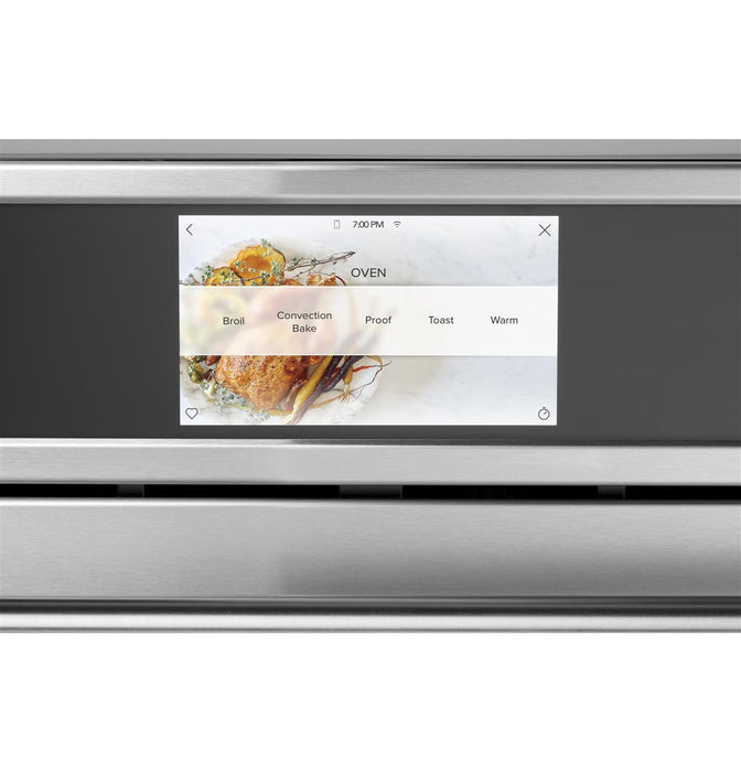 "GE Cafe CSB923P2NS1 30"" Smart Five in One Wall Oven with 240V Advantium® Technology in Stainlesss Steel"