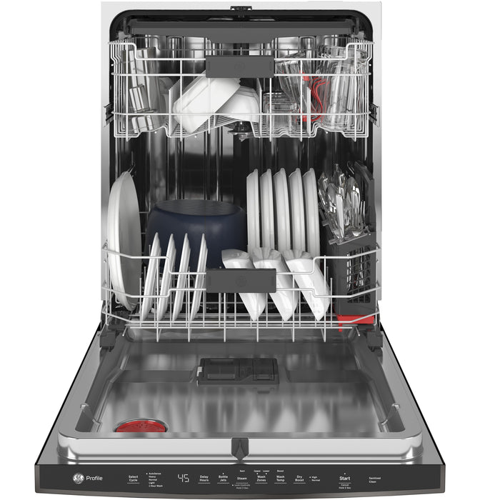 GE Profile PDT715SBNTS Interior Dishwasher with Hidden Controls In Black Stainless