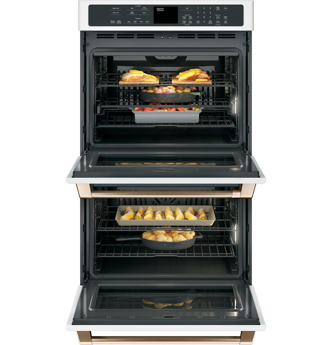 GE Cafe CTD90DP2NS1 30 Inch Built-In Professional Double Wall Oven with Convention