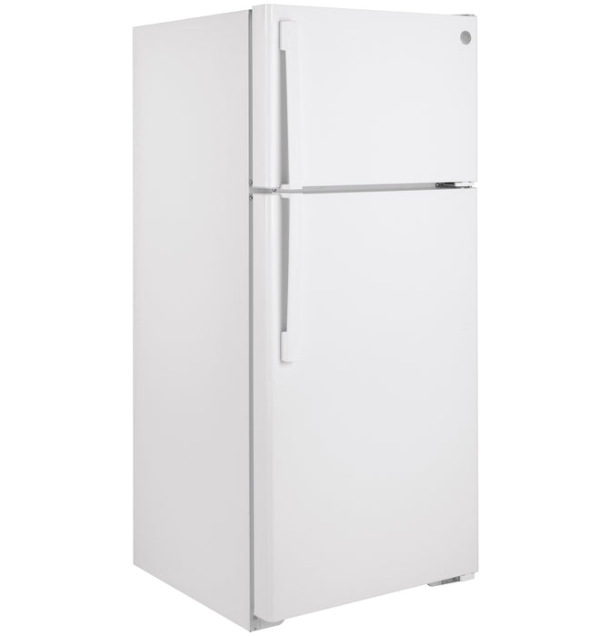 GE GTE17DTNRWW Energy Star 16.6 Cube Feet Top-Freezer Refrigerator