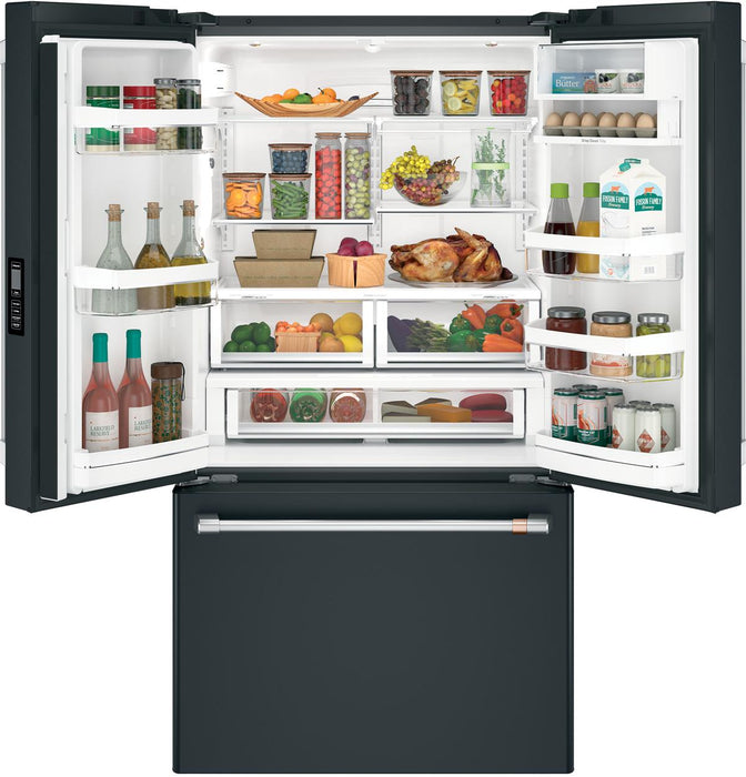 GE Cafe CWE23SP3MD1 ENERGY STAR® 23.1 Cu. Ft. Counter-Depth French-Door Refrigerator in Matte Black