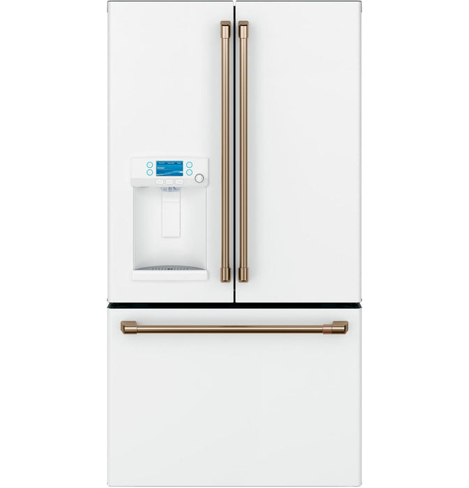 GE Cafe CYE22TP4MW2 ENERGY STAR® 22.2 Cu. Ft. Counter-Depth French-Door Refrigerator with Hot Water Dispenser in Matte White