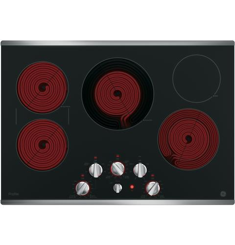 "GE PROFILE 30"" Built-In Knob Control Electric Cooktop - Cooktop - GE Profile - Topchoice Electronics"