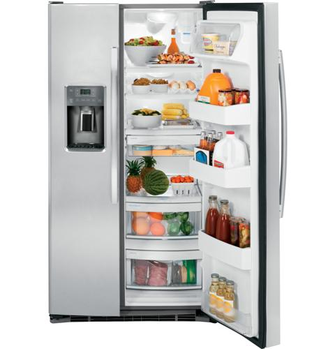 GE® ENERGY STAR® 25.3 Cu. Ft. Side-By-Side Refrigerator - Refrigerator - GE - Topchoice Electronics