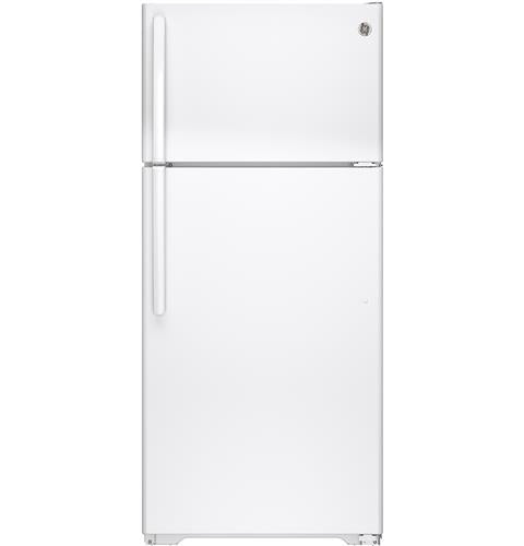 GE GTE16DTHWW 15.5 Cu. Ft. Top-Freezer Refrigerator - White - Refrigerator - GE - Topchoice Electronics