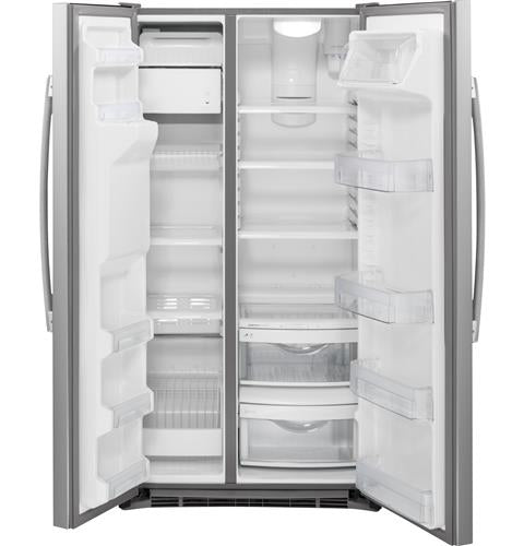 GE® 21.9 Cu. Ft. Counter-Depth Side-By-Side Refrigerator - Refrigerator - GE - Topchoice Electronics