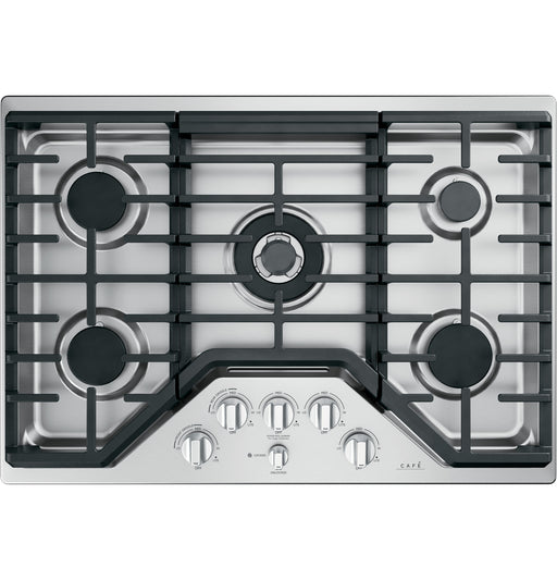 GE Cafe CGP95302MS1 30-Inch Built-in Gas Cooktop in Stainless Steel