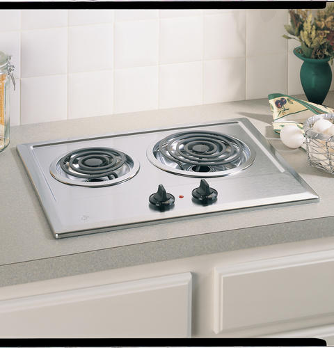 "GE JP201CBSS 21"" Coil Electric Cooktop - Stainless Steel - Cooktop - GE - Topchoice Electronics"