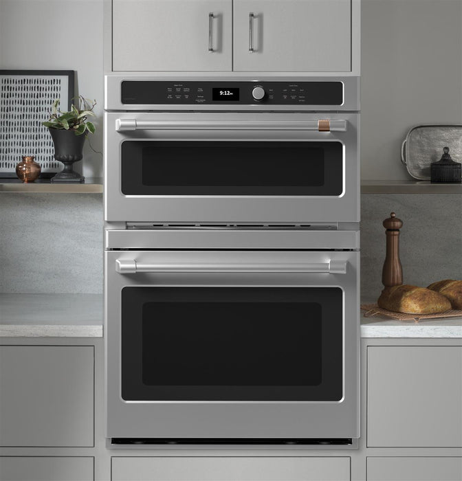 GE Cafe CTC912P2NS1 30 in. Combination Double Wall Oven with Convection and Advantium® Technology in Stainless Steel