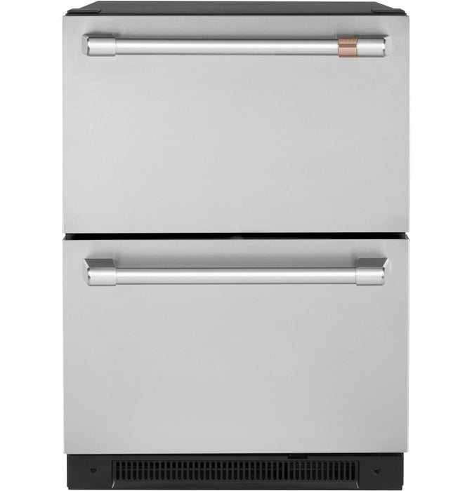 GE Cafe CDE06RP2NS1 5.7 Cu. Ft. Built-In Dual-Drawer Refrigerator in Stainless Steel