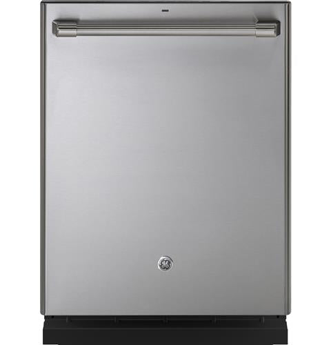 GE Cafe CDT866P2MS1 Series Stainless Interior Built-In Dishwasher with Hidden Controls in Stainless Steel