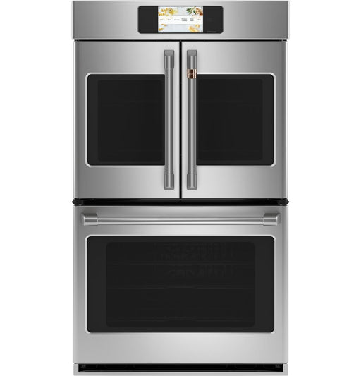 "GE Cafe CTD90FP2NS1 Professional Series 30"" Smart Built-In Convection French-Door Double Wall Oven"
