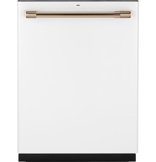 GE Cafe CDT866P4MW2 Stainless Interior Built-In Dishwasher with Hidden Controls in Matte White