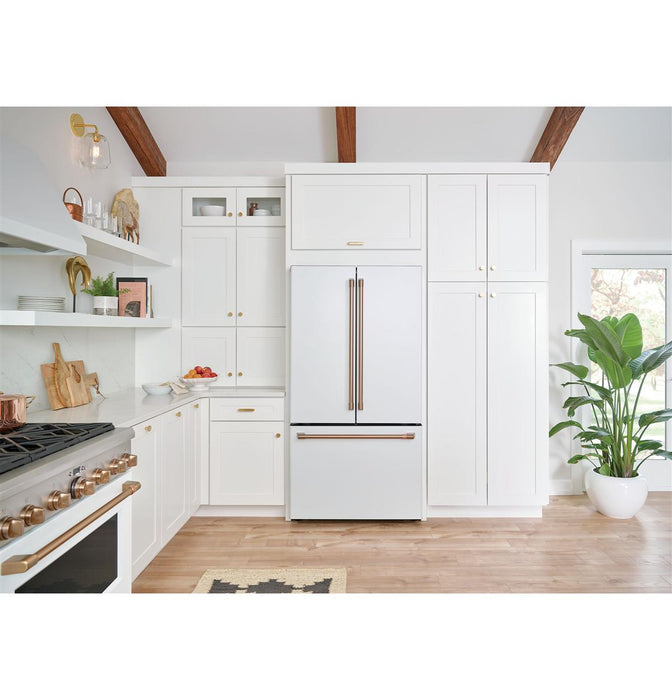 GE Cafe CWE23SP4MW2 ENERGY STAR® 23.1 Cu. Ft. Counter-Depth French-Door Refrigerator in Matte White