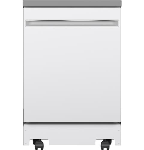 "GE GPT225SGLWW 24"" Portable Dishwasher in White"
