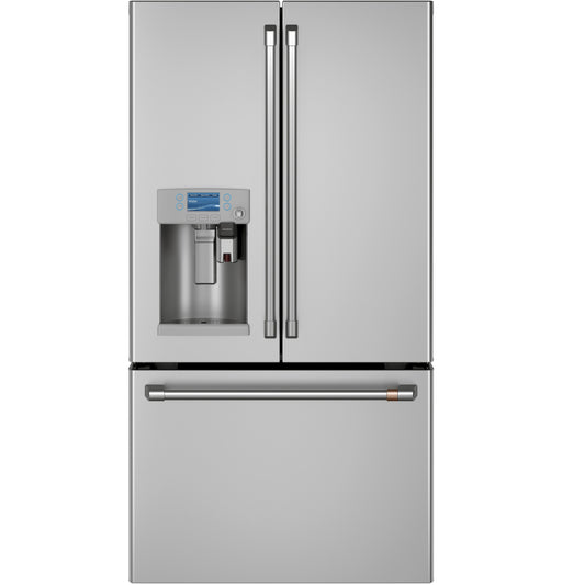 GE Cafe CYE22UP2MS1 36-Inch Energy Star 22.2 Cu. Ft. Counter-depth French-door Refrigerator With Keurig K-cup Brewing System In Stainless Steel