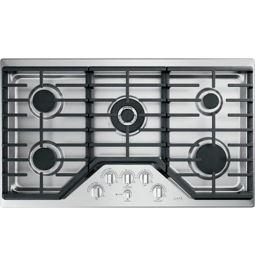 GE Cafe CGP95362MS1 36-Inch Built-in Gas Cooktop in Stainless Steel