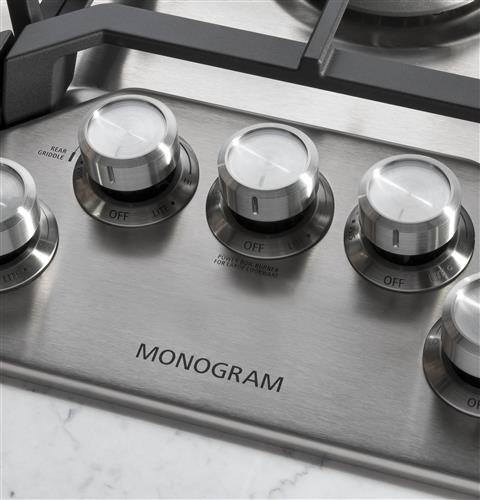 "Monogram ZGU36RSLSS 36"" Deep-Recessed Gas Cooktop (Natural Gas) - Stainless Steel - Cooktop - Monogram - Topchoice Electronics"