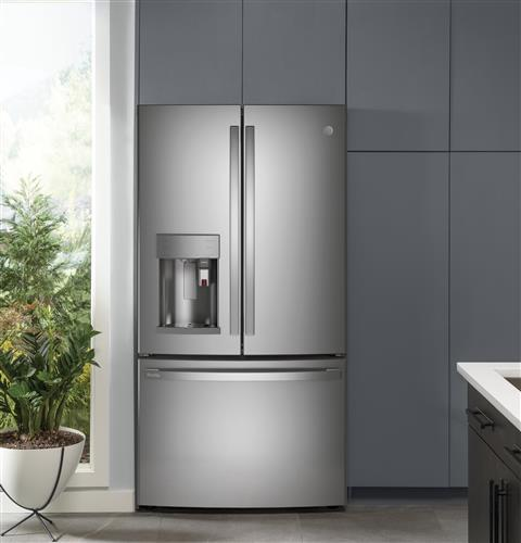 GE Profile PFE28PYNFS Series ENERGY STAR 27.7 Cu. Ft. Smart Fingerprint Resistant French-Door Refrigerator