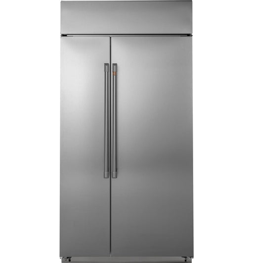 "GE Cafe CSB42WP2NS1 42"" Built-In Side-by-Side Refrigerator in Stainless Steel"