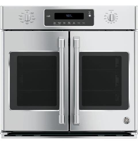 "GE Café™ Series 30"" Built-In French-Door Single Convection Wall Oven in Stainless Steel - Wall Oven - GE CAFE - Topchoice Electronics"