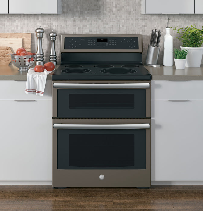 GE Profile PB960EJES 30-Inch Free-Standing Electric Double Oven Convection Range In Slate