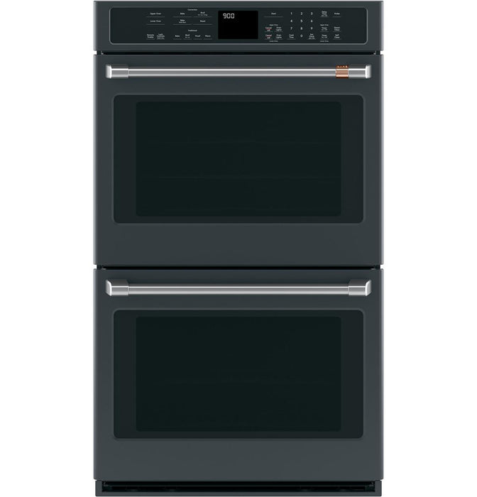 "GE Cafe CTD90DP3ND1 30"" Smart Double Wall Oven with Convection in Matte Black"