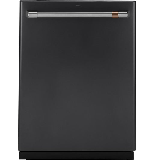 GE Cafe CDT866P3MD1 Stainless Interior Built-In Dishwasher with Hidden Controls in Matte Black