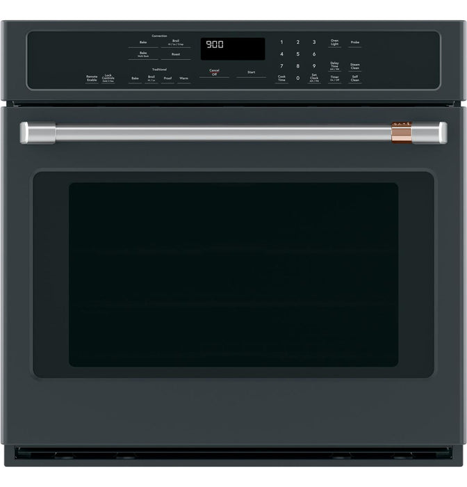 "GE Cafe CTS90DP3ND1 30"" Smart Single Wall Oven with Convection in Matte Black"