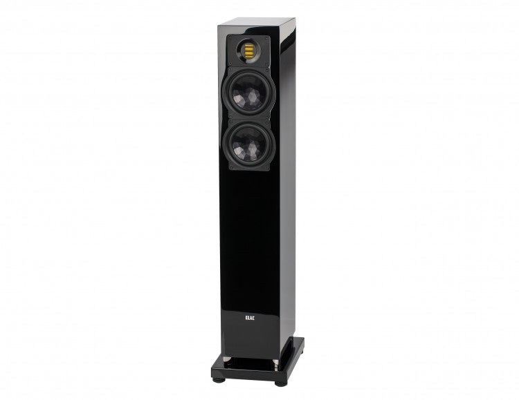 ELAC LINE 240.3 Series Floorstanding Speaker - Black High Gloss - FS247.3-GB (Each) - Special Order - Speakers - ELAC - Topchoice Electronics
