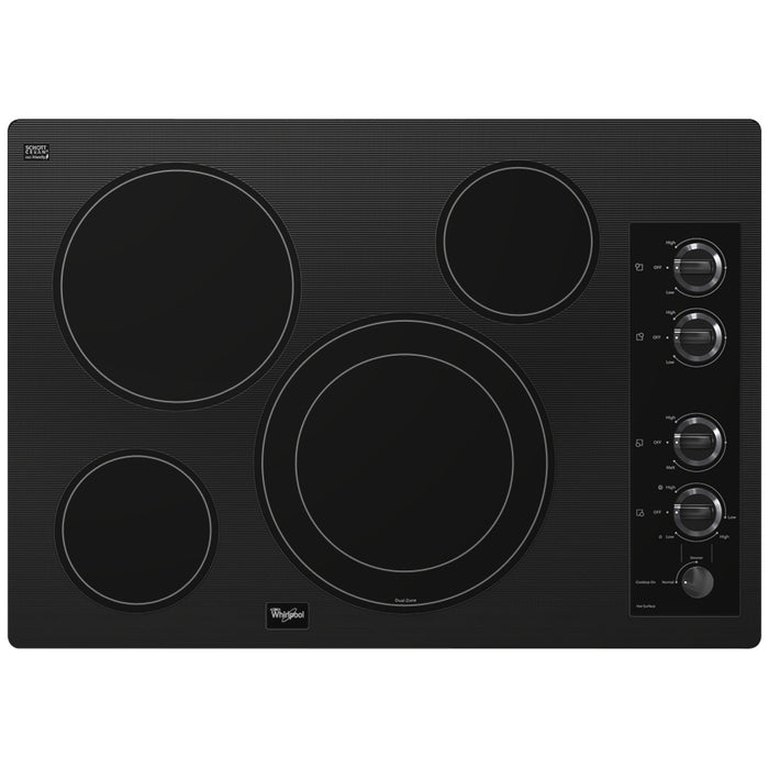 Whirlpool Gold 30-inch Electric Ceramic Glass Cooktop with Dual Radiant Element