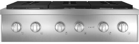 "GE Cafe CGU366P2TS1 36"" Commercial-Style Gas Rangetop with 6 Burners (Natural Gas) In Stainless Steel"
