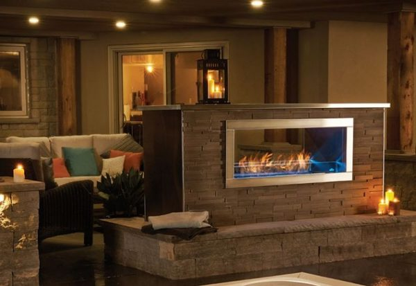 Napoleon Galaxy 48 Inch wide See Thru Linear Outdoor Fireplace - GSS48ST
