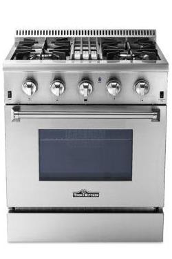 Thor Professional 30 Inch Dual Fuel Range in Stainless Steel - HRD3088U with 2 year warranty on parts and labor