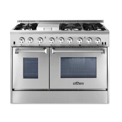 Thor Kitchen 48 Inch Professional Dual Fuel Range in Stainless Steel - HRD4803U with 2 year warranty on parts and labor