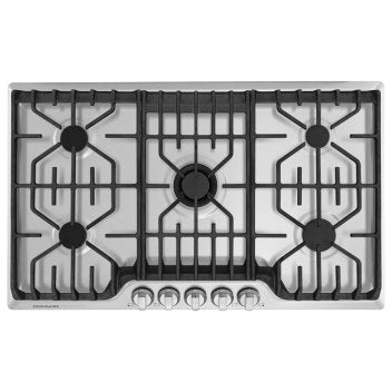 Frigidaire Professional FPGC3677RS 36'' Gas Cooktop with Griddle - Stainless Steel - Smudge Proof - Cooktop - Frigidaire Professional - Topchoice Electronics