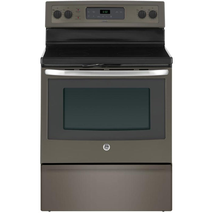 "GE JCB630EKES 30"" Free Standing Electric Self Cleaning Range in Slate - Range - GE - Topchoice Electronics"