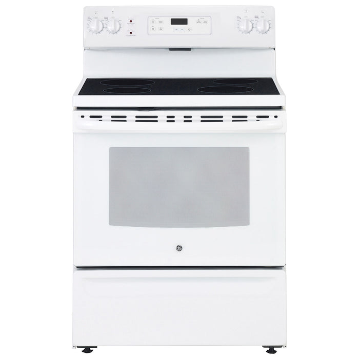 "GE JCBS630DKWW 30"" Free Standing Electric Standard Clean Range White - Range - GE - Topchoice Electronics"