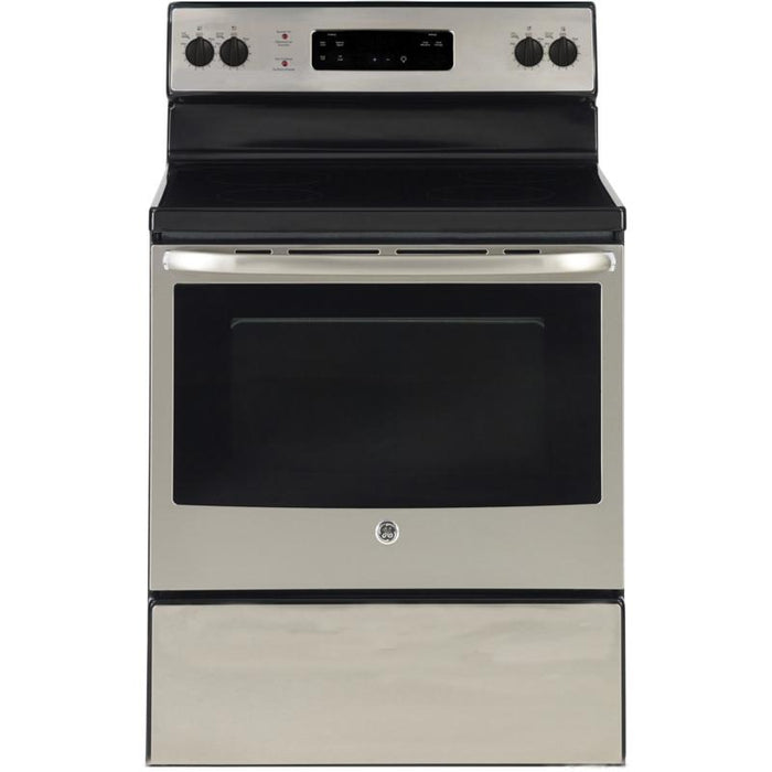 "GE JCBS630SKSS 30"" Free Standing Electric Standard Clean Range in Stainless Steel - Range - GE - Topchoice Electronics"
