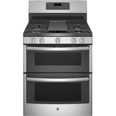 "GE JCGB860SEJSS 30"" Free-Standing Double Oven Gas With Convection And Self-Cleaning in Stainless Steel - Range - GE - Topchoice Electronics"