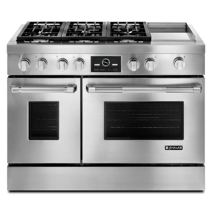 Jenn-Air Pro-Style Dual-Fuel Range with Griddle and MultiMode Convection, 48""