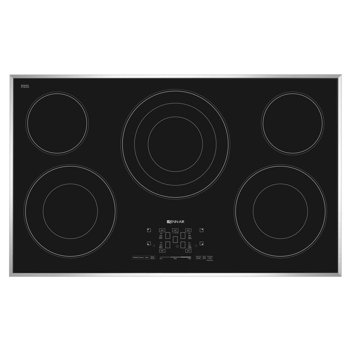 Jenn-Air 36-Inch Electric Radiant Cooktop with Glass-Touch Electronic Controls