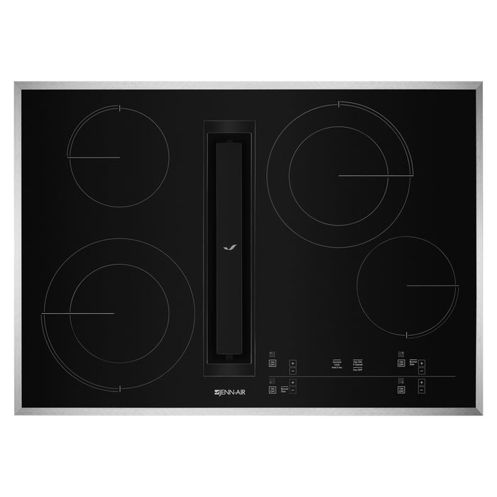 "Jenn-Air 30"" JX3 Electric Downdraft Cooktop with Glass-Touch Electronic Controls"
