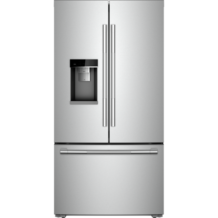 Jenn-Air JFFCC72EHL 72-Inch RISE Counter-Depth French Door Refrigerator with Obsidian Interior In Stainless Steel