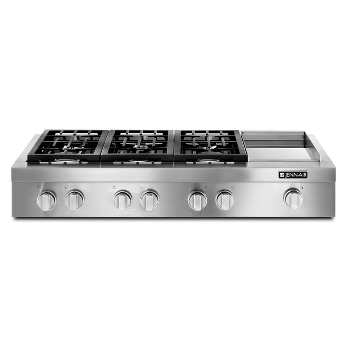 Jenn-Air Pro-Style Gas Rangetop with Griddle, 48""