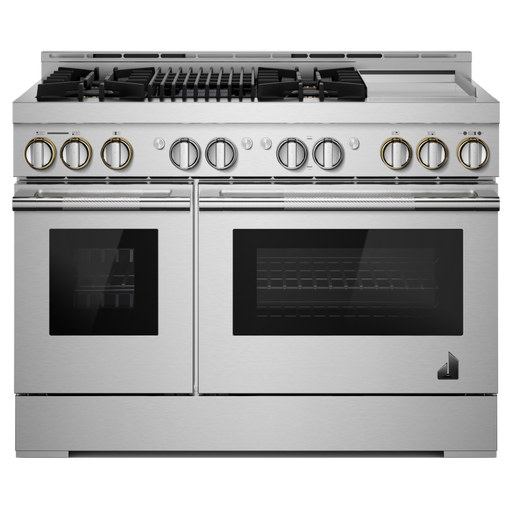 JennAir JGRP748HL 48-Inch RISE Gas Professional-Style Range with Chrome-Infused Griddle and Infrared Grill In Stainless Steel