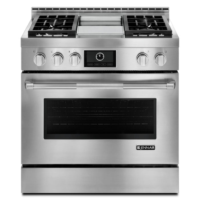 "Jenn-Air 36"" Pro-Style LP Range with Griddle and MultiMode Convection System"
