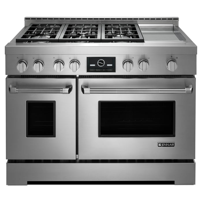 "Jenn-Air 48"" Pro-Style LP Range with Griddle and MultiMode Convection System"